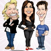 Richard Branson and Mark Zuckerberg