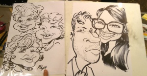 House Of Fraser Birmingham Caricatures