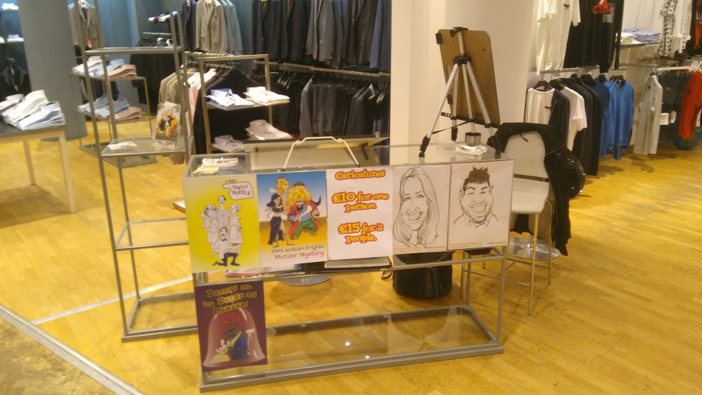 House Of Fraser Caricatures