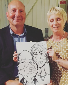 The Arty One Caricatures wedding entertainment Caricaturist