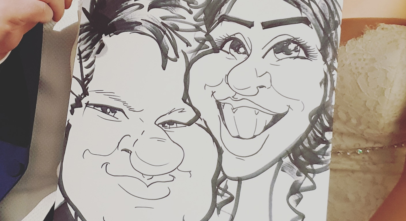 Caricatures wedding entertainment Caricaturist
