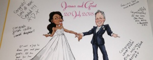 wedding Signing message boards caricatures