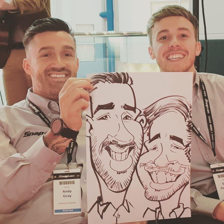 corporate entertainment caricatures