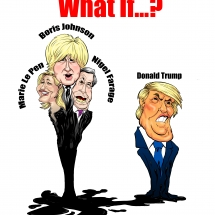 Donald Trump Boris Johnson, Nigel Farage, Marie Le Pen