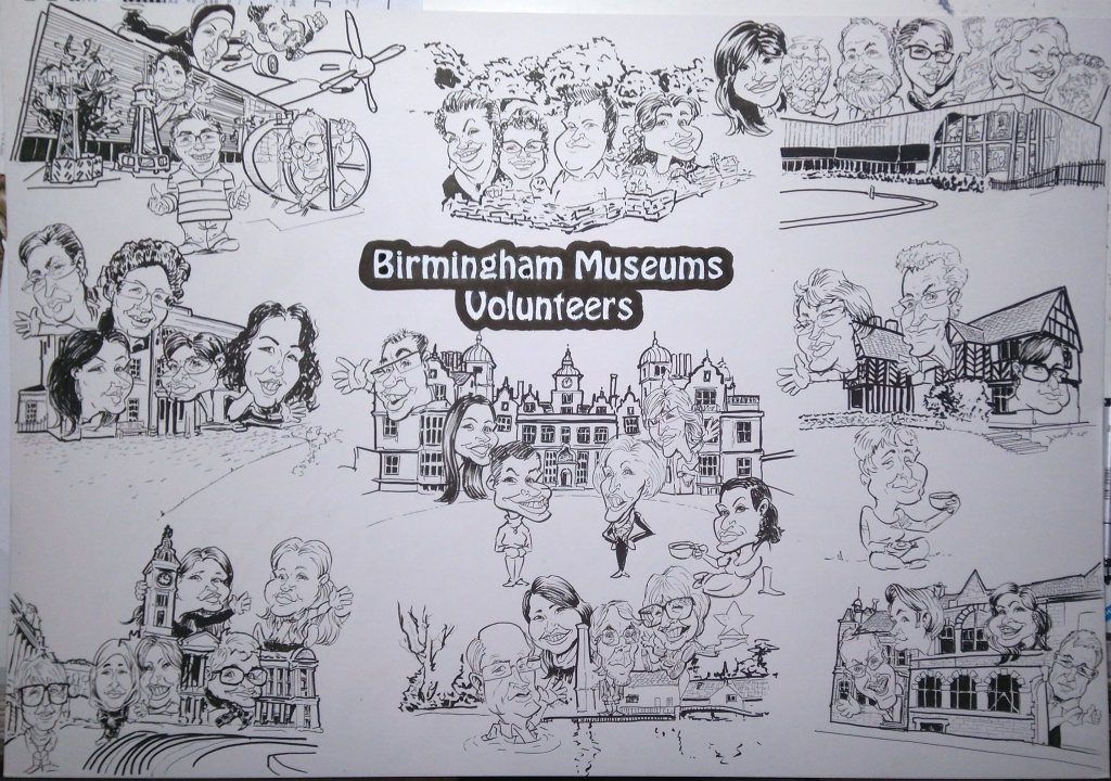 TheArtyOne Caricatures Birmingham Museum and Art Gallery
