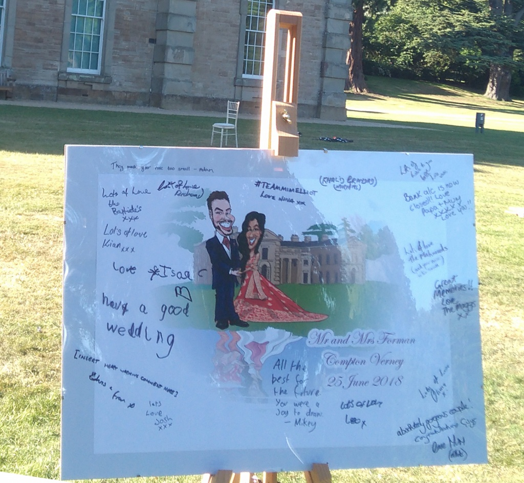 wedding message signing boards