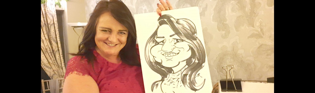 Winter Wedding Caricature Entertainment