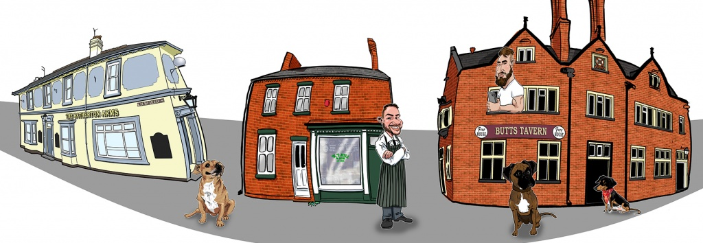 Walsall Caricature Buildings